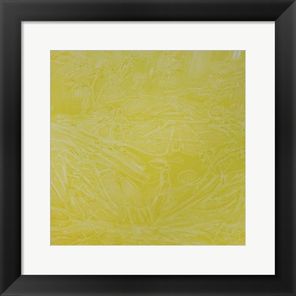 Framed Yellow Abstract C Print