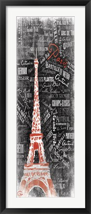 Framed Eiffel Red Print