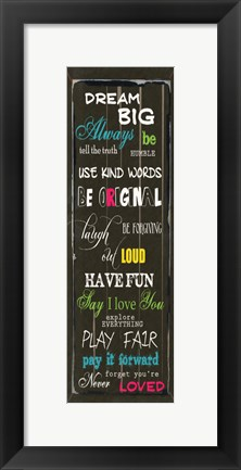 Framed Dream Big 1 Print