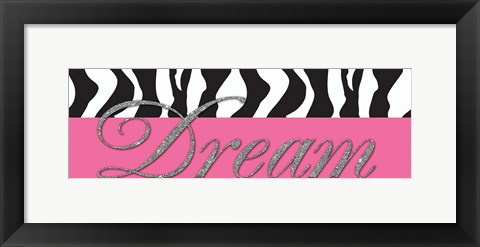 Framed Dream Glitter Print