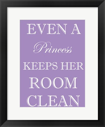 Framed Princess Clean Room Print