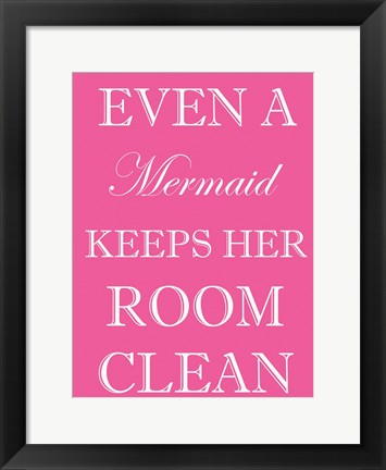 Framed Mermaid Clean Room Print