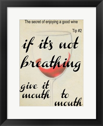 Framed Wine Secret 2 Print