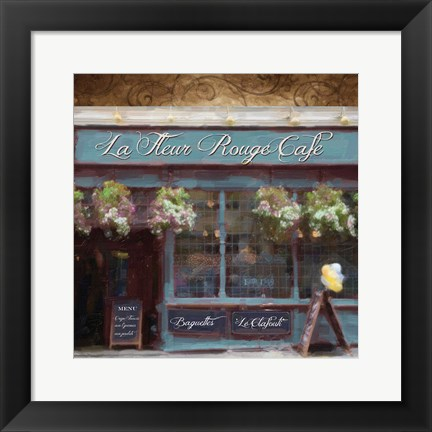 Framed Cafe Blue Print