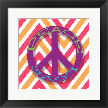 Framed Chevron Peace Print