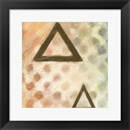 Framed Abstract Triad IV Print
