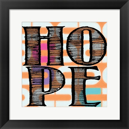 Framed Hope 4 Print