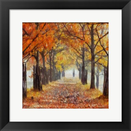 Framed Amber Trail 2 Print