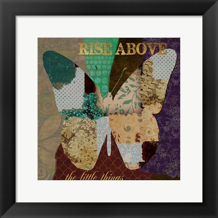 Framed Rise Above Print