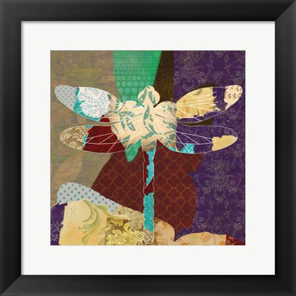 Framed Rise Above Dragonfly 2 Print