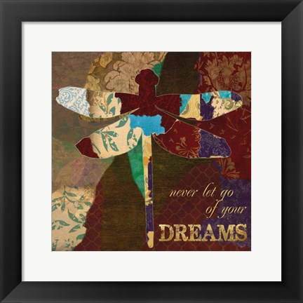Framed Dreams Dragonfly Print