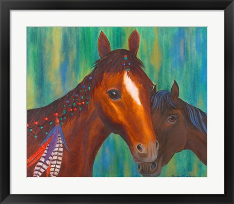 Framed Horse Feathers Print