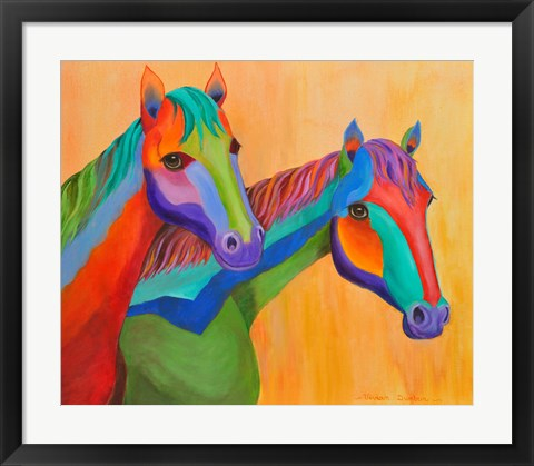 Framed Horses of Color Print