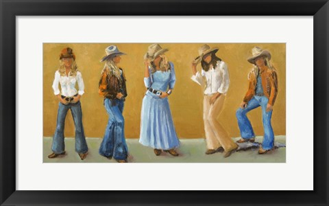 Framed Western Cowgirls Print