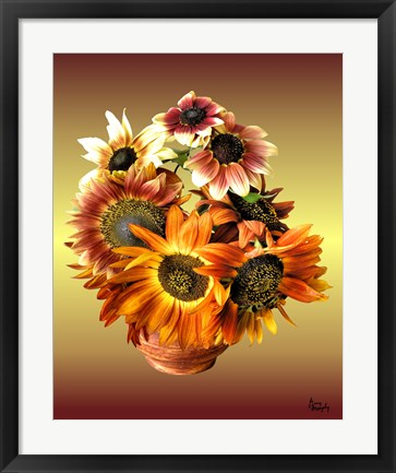 Framed Sunflower 7 Print