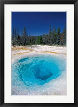 Framed Morning Glory Pool, Yellowstone National Park, Wyoming Print