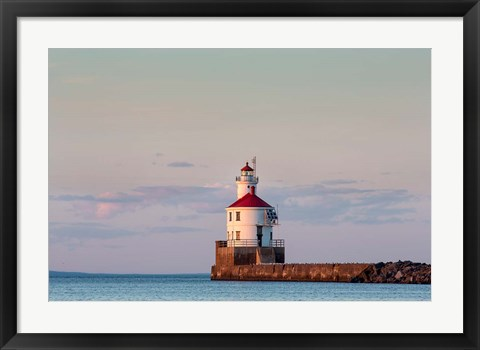 Framed Wisconsin Point Lighthouse, Superior, Wisconsin Print