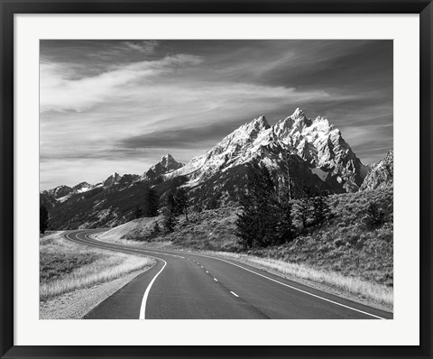 Framed Teton Park Road and Teton Range, Grand Teton National Park, Wyoming Print