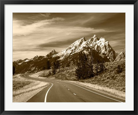 Framed Teton Range, Grand Teton National Park, Wyoming Print