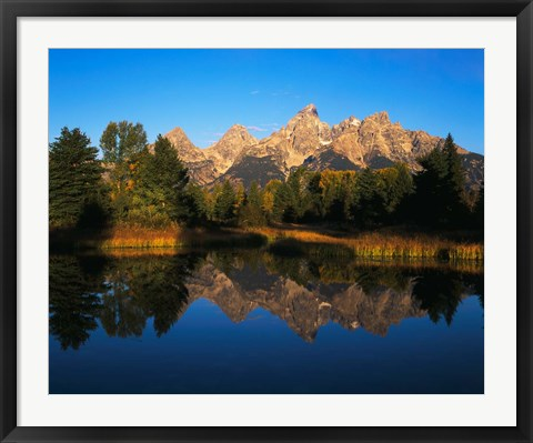 Framed Teton Range and Snake River, Grand Teton National Park, Wyoming Print