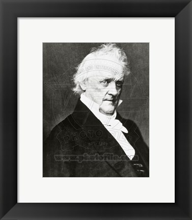 Framed James Buchanan, 15th President of the United States Print