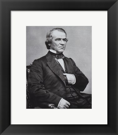 Framed Andrew Johnson, 17th President of the United States Print