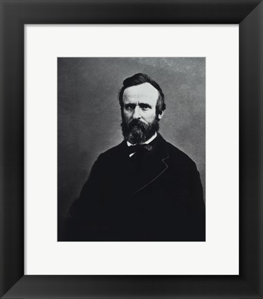 Framed Rutherford B. Hayes, 19th President of the United States Print