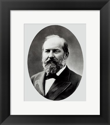 Framed James A. Garfield, 20th President of the United States Print