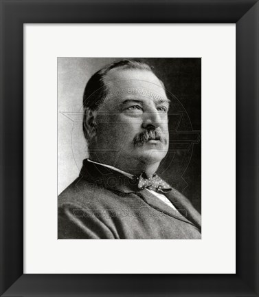 Framed Grover Cleveland, 22nd & 24th President of the United States Print