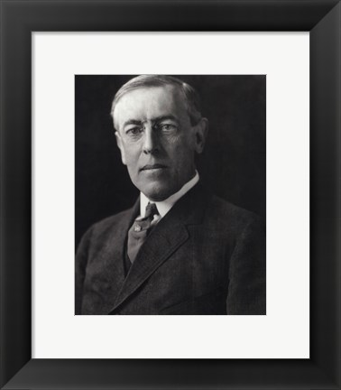 Framed Woodrow Wilson, 28th President of the United States Print