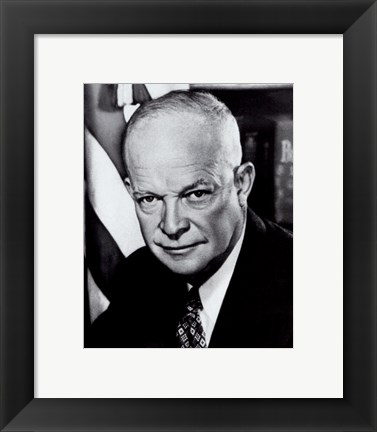 Framed Dwight D. Eisenhower, 34th President of the United States Print