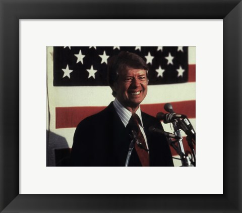 Framed Jimmy Carter, 39th President of the United States Print