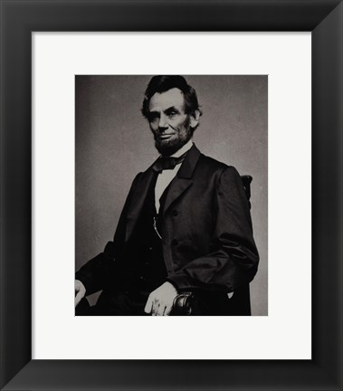 Framed Abraham Lincoln, 16th President of the United States Print