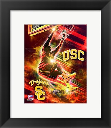 Framed USC Trojans Player Composite Print
