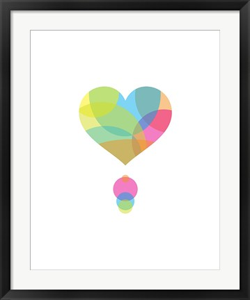 Framed Colors of a Heart Print
