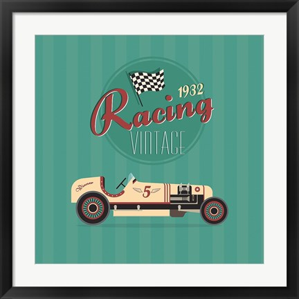 Framed Vintage Racing 2 Print