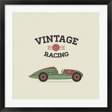 Framed Vintage Racing 3 Print