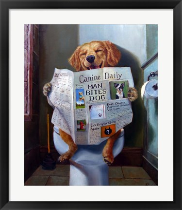 Framed Dog Gone Funny Print