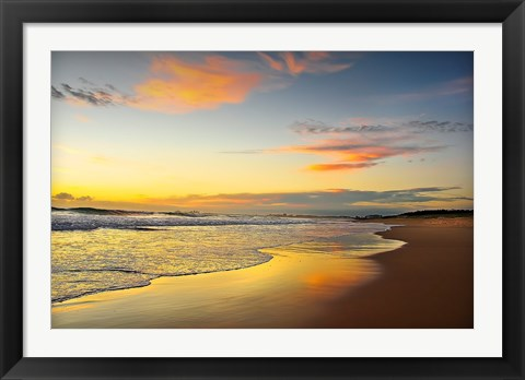 Framed Beach Dawn Print