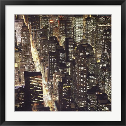 Framed City Lights Print