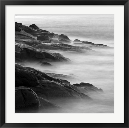 Framed Rocks in Mist 1 Print
