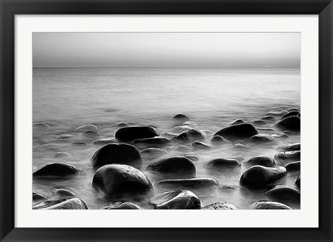 Framed Rocks in Mist 3 Print