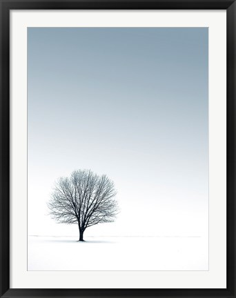 Framed Tree in Winterscape Print