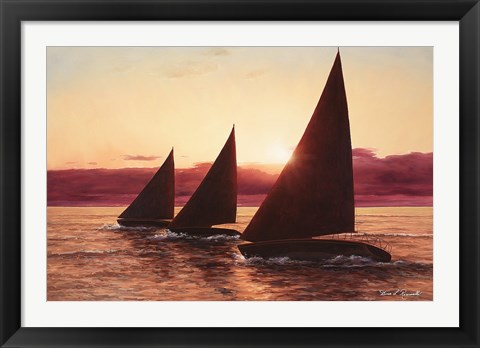 Framed Evening Sails Print