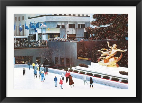 Framed Rockefeller Center Print