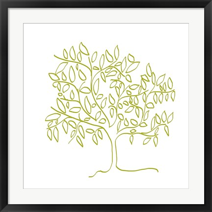 Framed Citron Tree Print