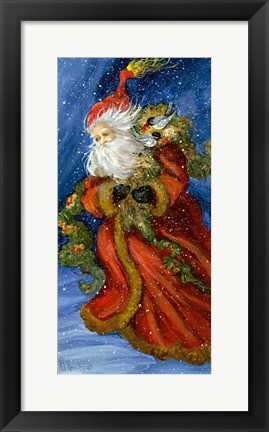 Framed Old World Santa Print
