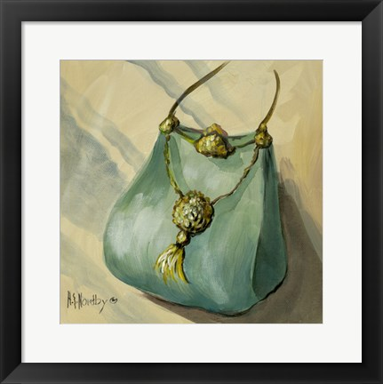 Framed Purse Green Print