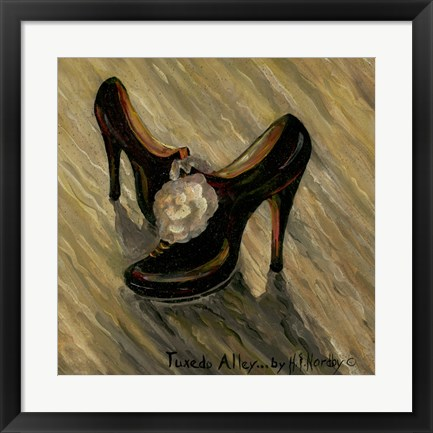 Framed Shoes Print