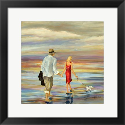 Framed Walking Down the Shore Print